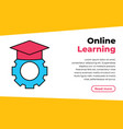 online education concept eps10 e-learning concept vector image vector image