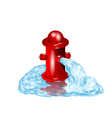 Open fire hydrant vector image