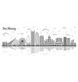 outline da nang vietnam city skyline with vector image vector image