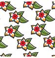 plumeria hawaiian symbol flower seamless pattern vector image vector image