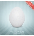 realistic white egg On abstract background vector image