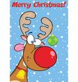Reindeer cartoon vector image vector image