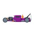 retro style race car old sports purple automobile vector image vector image