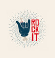 rock it logo design rockl vector image vector image