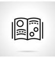 Scientific journal simple line icon vector image