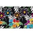 seamless pattern floral traditional batik motif vector image vector image