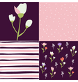 Set of floral pattern tulips vector image vector image