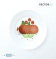sliced tasty chorizo sausage vector image