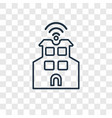 smart city concept linear icon isolated on vector image