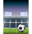 soccer football stadium vector image vector image