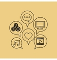 Social media design communication icon Isolated vector image