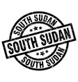 south sudan black round grunge stamp vector image vector image
