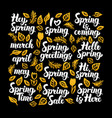 spring calligraphy design vector image