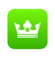 steel crown icon green vector image vector image