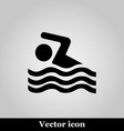 Swimming icon sign on grey background vector image vector image
