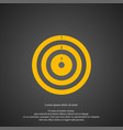 target icon simple darts element game symbol vector image