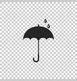 umbrella icon isolated on transparent background vector image vector image