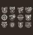 vintage custom motorcycle emblems vector image vector image