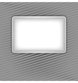 white blank shape on corduroy background vector image vector image