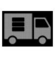 white halftone data transfer van icon vector image vector image