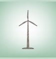 wind turbine logo or sign brown flax icon vector image vector image