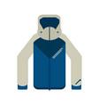 winter jacket clothes vector image vector image