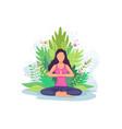 woman doing yoga exercise vector image vector image