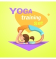 Yoga retro cartoon vector image