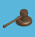 judge hammer and stand in 3d vector image