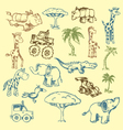 animals doodles vector image