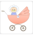 Child in a carriage vector image