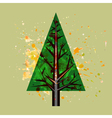 abstract watercolor pine tree vector image vector image