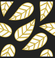abstract white and golden single leaves pattern vector image