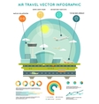 air travel infographic template vector image vector image