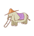 An elephant slides vector image vector image