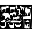 animal silhouettes vector image vector image