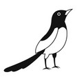 asian magpie icon simple style vector image