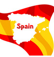 background with flag and map of spain spanish vector image