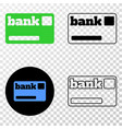 bank card eps icon with contour version vector image