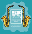 banner music festival live vector image vector image