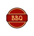bbq badge circle vector image