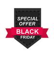 black friday weekend super sale sticker on dark vector image vector image