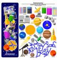 bookmark creation kit on astronomy school theme vector image
