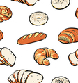 bread pattern including seamless clipart vector image vector image