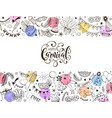 carnival greeting card vector image