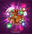 Casino Roulette Playing Cards wtf Falling Chips vector image vector image