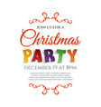 Christmas party poster template isolated on white vector image vector image