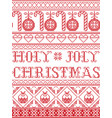 christmas pattern holy joly christmas vector image
