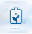 clean energy concept with battery vector image