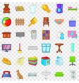 comfort indoor icons set cartoon style vector image vector image